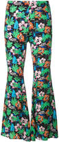 Love Moschino graphic print flared trousers