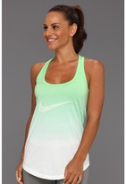 Nike Dip Dye Swoosh Loose Tank (Poison Green/White/Dark Grey Heather) - Apparel