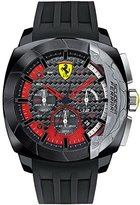 Ferrari Mens Scuderia Aerodinamico Black Stainless Steel Silicone Strap Watch 0830205