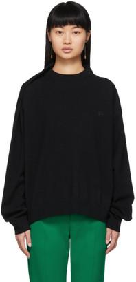 Balenciaga Black Wool Pinched Shoulder Sweater