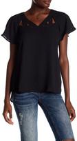 Spense V-Neck Cutout Shirt