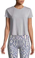 Varley Effie Crewneck Short-Sleeve Crop Top
