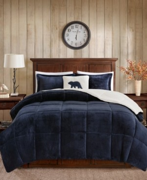 Woolrich Alton King 4 Piece Plush to Sherpa Down Alternative Comforter Set Bedding