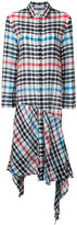 Tsumori Chisato checked asymmetric dress - women - Wool - M
