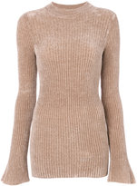 Nude slim fit ribbed jumper - women - Polyamide/Spandex/Elastane/Viscose - 40