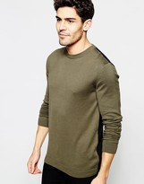 Asos Cotton Jumper With Contrast Back