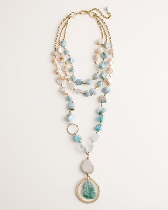 Chico's Convertible Multi-Strand Sea-Shades Necklace