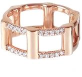 RACHEL KATZ Half Cage Ring With Diamonds