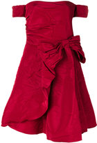RED Valentino off the shoulder bow dress - women - Polyester/Acetate - 42