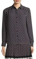 Kate Spade Diamond Button-Front Blouse