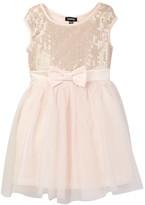 Zunie Sleeveless Sequined Top and Mesh Skirt Dress (Toddler & Little Girls)