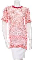 Giambattista Valli Short Sleeve Silk Top w/ Tags