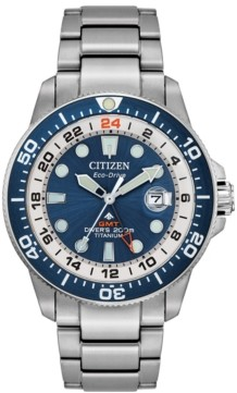 Citizen Limited Edition Eco-Drive Promaster Marine Titanium Bracelet Watch 43mm, Created for Macy's