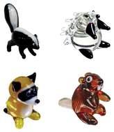 Looking Glass 4 - Pack - Skunk, Porcupine, Raccoon, Beaver Mini Figurines
