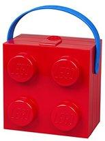 Lego Lunch Box W. Handle (4 Knob) - Classic, Bright Red