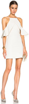 David Koma Shoulder Ruffle Dress