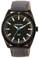 Kahuna Gents Grey Strap Black Case Watch Kus-0120g