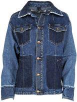 McQ by Alexander McQueen Patchwork Frayed Denim Jacket