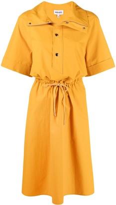Kenzo Short-Sleeved Midi Dress