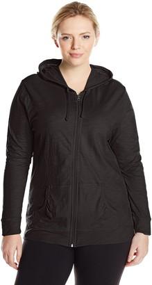 Just My Size Women's Full Zip Jersey Hoodie