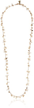 "lonna & lilly Glamour"" Rose Gold-Tone Long Shakey Strand Necklace 34"""