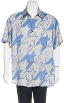 Robert Graham Abstract Print Silk Shirt