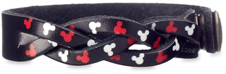 Disney Mickey Mouse Icon Woven Leather Bracelet Personalizable
