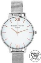 Olivia Burton Big White Dial Mesh Watch