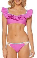 Jessica Simpson Woodstock Convertible Ruffle Bikini Top