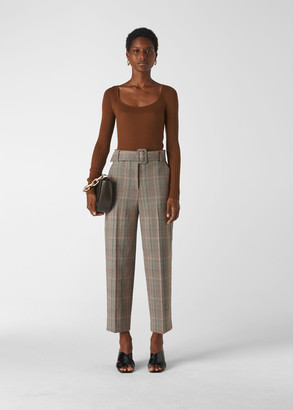 Check Tapered Trouser