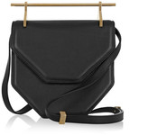 M2Malletier Amor Fati Leather Shoulder Bag - Black