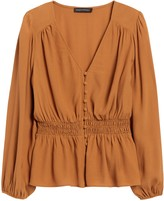 Banana Republic Petite Boho Peplum Top