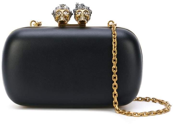 Alexander McQueen Queen and King skeleton box clutch