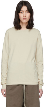 Rick Owens Beige Level Long Sleeve T-Shirt