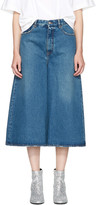 MM6 MAISON MARGIELA Indigo Cropped Wide-leg Jeans