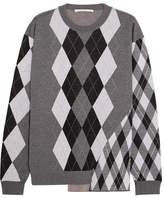 Stella McCartney Argyle Wool Sweater - Light gray