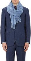 Barneys New York Men's Fringed Cashmere Scarf-BLUE