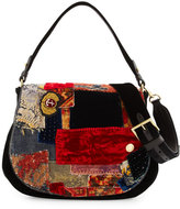 Ralph Lauren Embroidered Patchwork Crossbody Hobo Bag, Multi