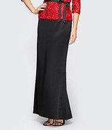 Alex Evenings Satin Fishtail Skirt