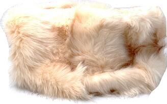 Accessoryo Women's Luxury Tonal Cream coloured Faux Fur Snood