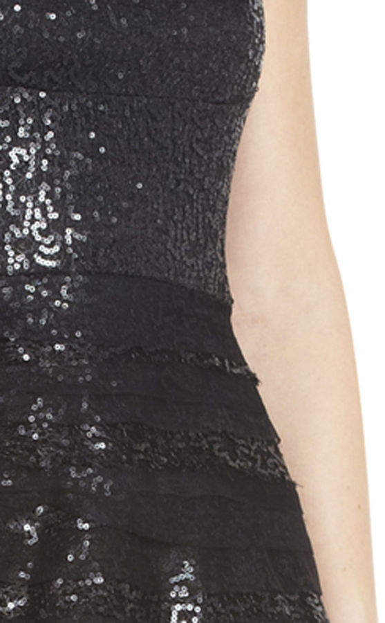 BCBGMAXAZRIA Seri Strapless Sequined Cocktail Dress