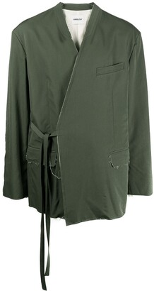 Ambush Frayed Tie-Fastening Jacket