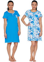 Carole Hochman As Is Spring Forest 2-Pack Sleepshirt Set