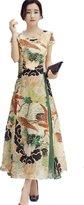 Bobbycool Ladies Silk Dress Pankou Retro Dress Slim Printing