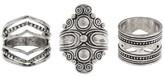 Women's Three pk Ring Set-Rhodium