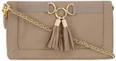 Dorothy Perkins Beige tassel clutch