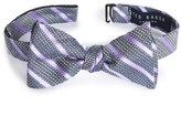 Ted Baker Men's East End Stripe Silk Bow Tie