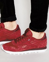 Reebok Classic Leather Np Trainers In Red V70834
