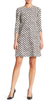 Taylor Abstract Houndstooth Jacquard Dress