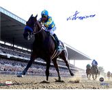 """Steiner Sports Victor Espinoza Signed American Pharoah Leads The Pack 2015 Belmont 8"""" x 10"""" Photo"""